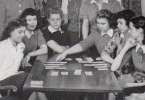 History of Bridge - 1942 Bridge Club at Shimer College