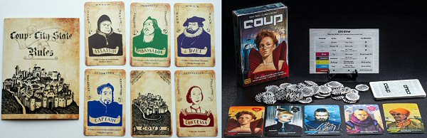 Coup History Card Game, Old vs New