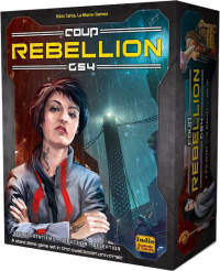 A complete list of Coup characters and player aid from the classic deck, promos and Rebellion G54 expansion.