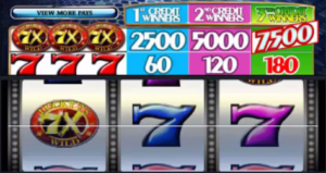 7X Lucky Sevens Wild Multiplier