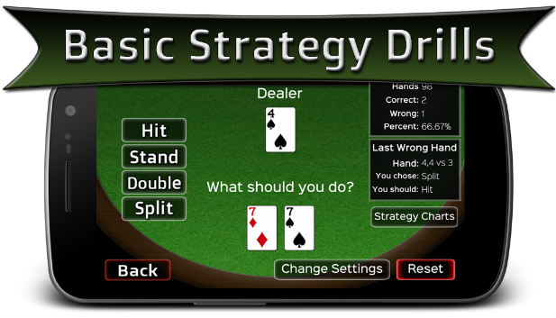 Training Real Money Blackjack App for Android