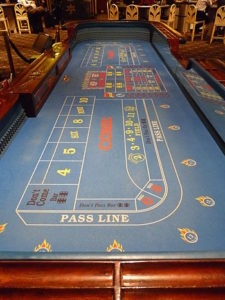 Table with Craps Fire Bet