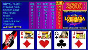 Louisiana Double Video Poker