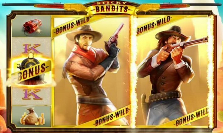 Stick Bandits Old West Slots Wilds Feature