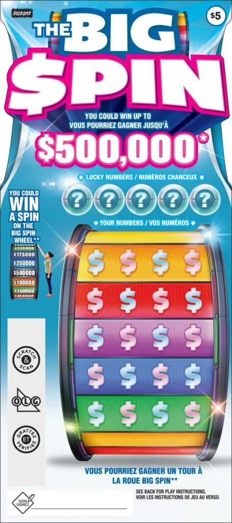 Ontario Lottery The Big Spin Instant Win Game