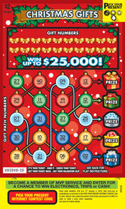 Christmas Gifts Scratch-Off Tickets