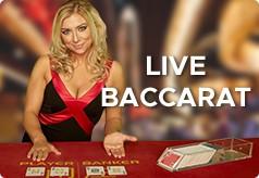 Live Dealer Online Baccarat