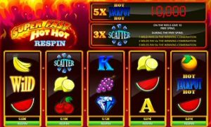 Super Fast Hot Hot Respin Slot Features