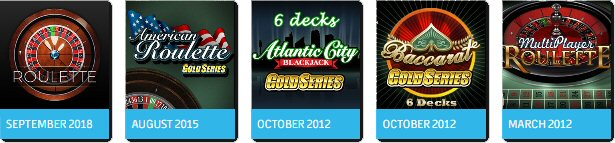 Table Games from Microgaming, October 2012 - September 2018
