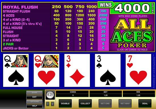 Microgaming Original All Aces Poker 2001