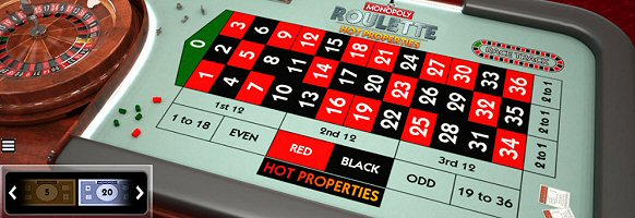 Monopoly Roulette Hot Properties by SG Interactive