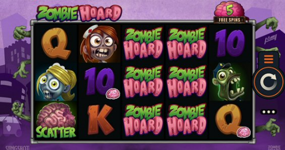 Use Your Brains to Win Zombie Hoard Slot Free Spins