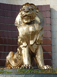 MGM Golden Lion outside MGM Grand Hotel Las Vegas