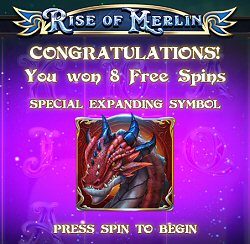 Rise of Merlin Online Slot Free Spins Feature