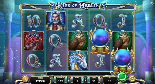New from Play'n Go rise of Merlin Slot
