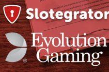 Slotegrator adds Evolution Live Dealer Casino Games to APIgrator Platform