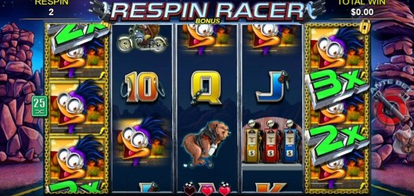 Anthropomorphic Slots: Respin Racer by Lightning Box
