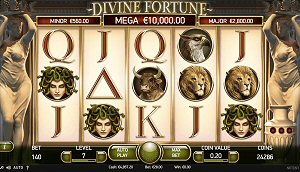 2x Valentine's Jackpot Strike on Divine Fortune Slot