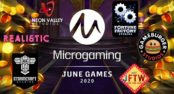 Microgaming's list of partnership studios has grown so long, the company is looking to introduce a crazy number of brand new slots games in June 2020.