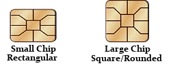 small chip or large chip, How to tell the difference between card chip size