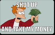 Take My Money Credit Card Skins